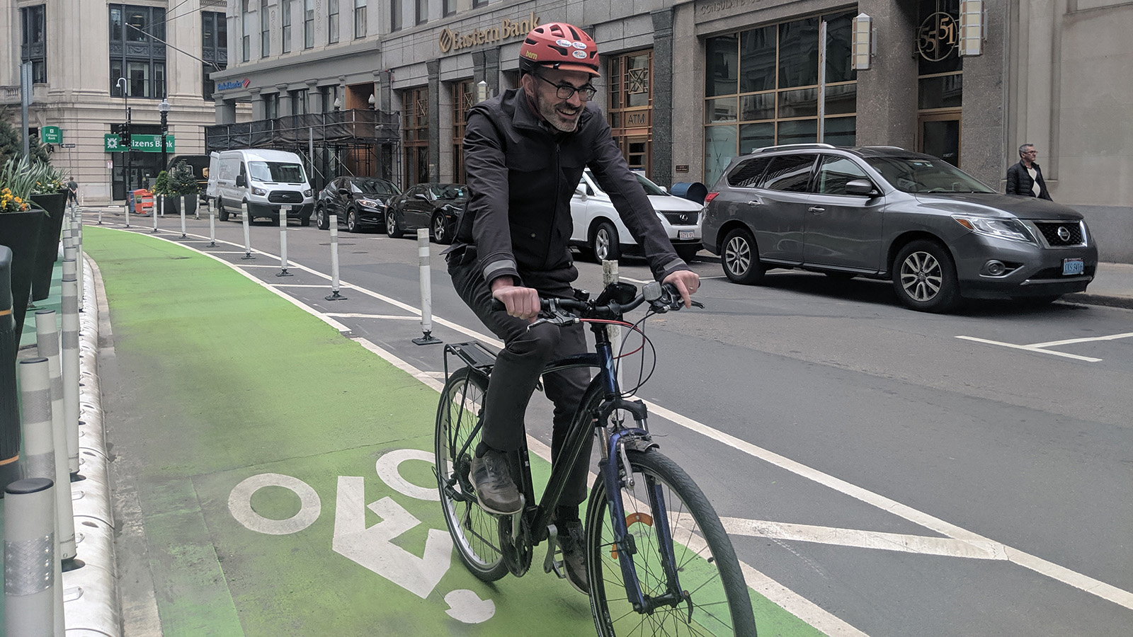 <h4>TO GET TO ZERO CARBON: DRIVE LESS, LIVE MORE</h4><h5>Our goal is to double the number of people who travel on foot, bike or public transit by 2030.</h5><em>Jennifer Newman</em>